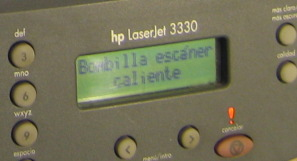 hp3330 error bombilla